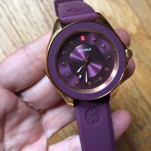 Michele Accessories - Michele Purple and Gold Watch